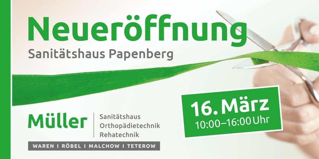 Neueröffnung Sanitätshaus Papenberg Waren (Müritz)